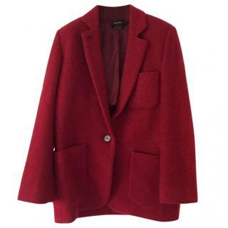 Isabel Marant Red Jady Mohair & Wool Coat