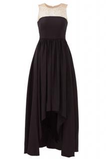 Marchesa Notte black asymmetric Gown