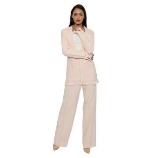 Chanel Pale Pink Trouser Suit