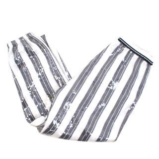 Twin-Set Simona Barbieri Black & White Sequin Trousers