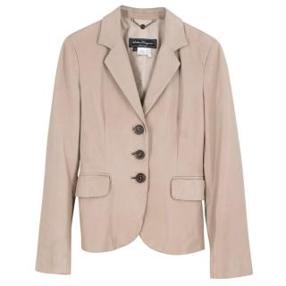 Salvatore Ferragamo Beige Leather Jacket