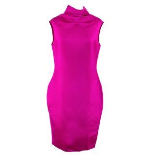 Lanvin Silk High Neck Dress