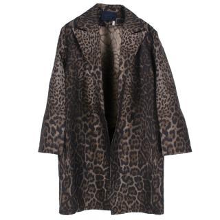 Lanvin Oversized Leopard Print Coat