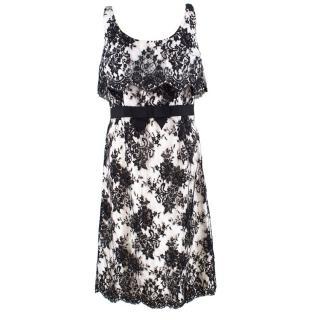 Christian Dior Black & White Lace Dress