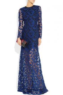 Erdem Blue Lace Gown