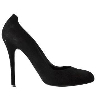 Ralph Lauren Collection runway black suede shoes