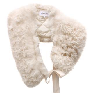 Helmut Lang Shearling Lamb Fur Collar