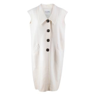 Oscar de la Renta Sleeveless Wool Jacket