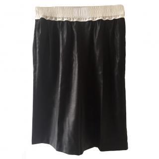 Alexander Wang Black and White Silk shorts