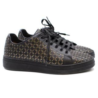 Alaia Laser-Cut Leather Sneakers