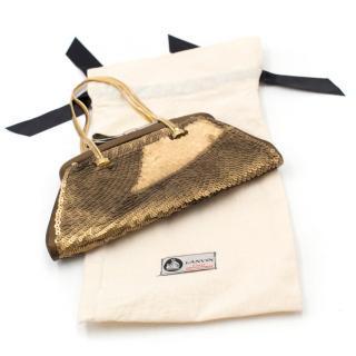 Chloe Gold Sequin Evening Bag