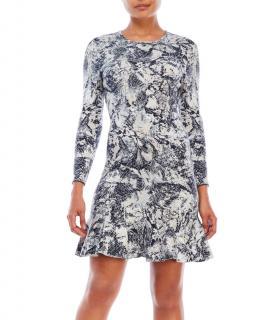 BCBG Maxazria Leilana Peplum Jaquard Dress