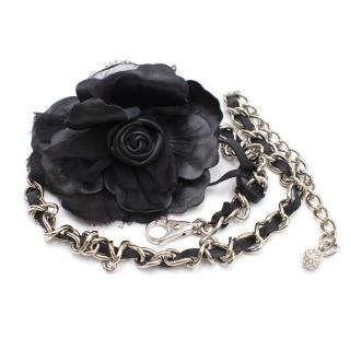 Dolce & Gabbana Flower Embellished Chain Belt