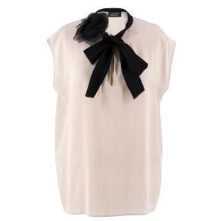 Lanvin Sleeveless Silk Blouse
