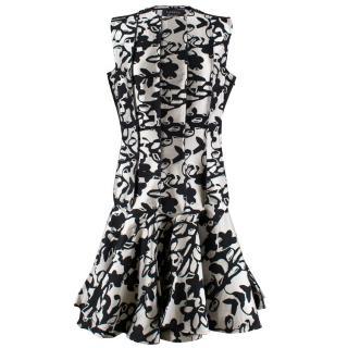 Lanvin Drop waist jacquard dress