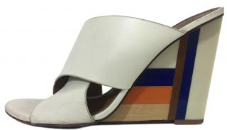 Tory Burch Colour Cube Wedge Mules