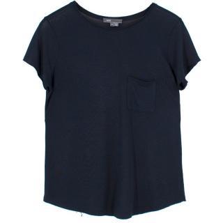 Vince Crew Neck Raw Edge T-shirt