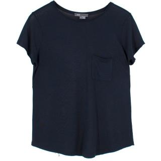 Vince Crew Neck Raw Edge T-shirt