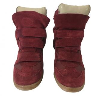 Isabel Marant Red Beckett Sneakers