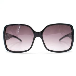 Jimmy Choo Black oversized sunglasses