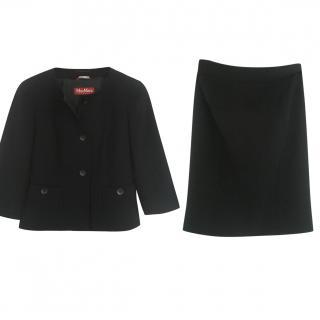 Max Mara Black Skirt Set