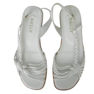 Bally white criss cross sandals