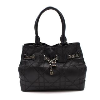 Dior Woven Cannage Leather Padlock Bag