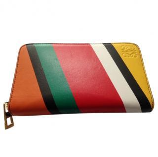 Loewe striped leather purse