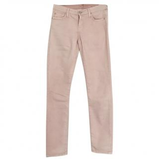 7 For All Mankind dusty pink slim jeans
