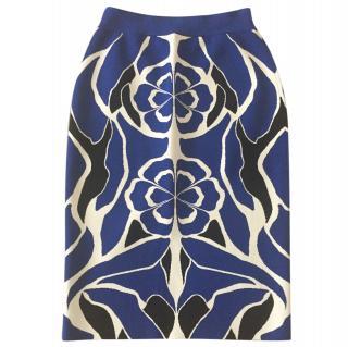 Alexander Mcqueen jacquard skirt