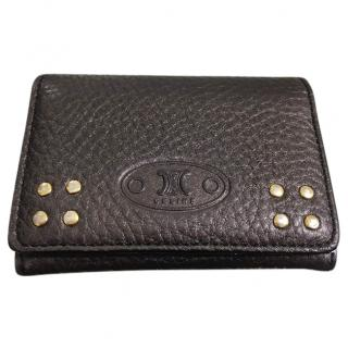 Celine Brown Leather Cardholder