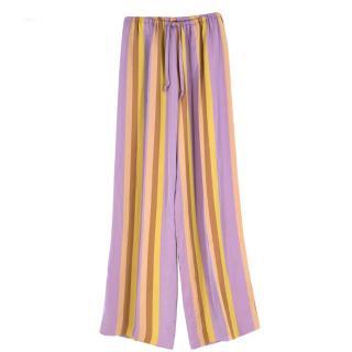 Dries Van Noten Striped Wide Leg Trousers