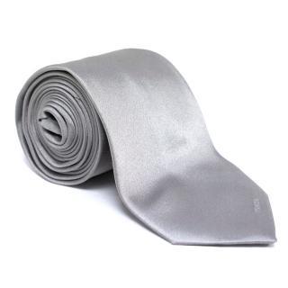 Prada Silver Silk Tie