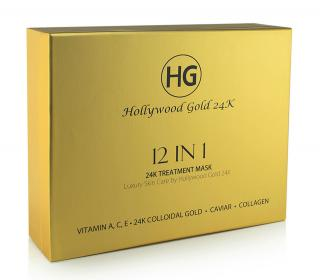 Hollywood Gold 24k Gold 12 in 1 Treatment Masks