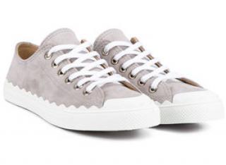 Chloe Suede Kyle Low Top Sneakers