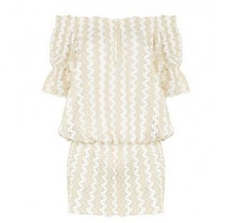 Melissa Odabash Lace Crochet Drop Waist Dress