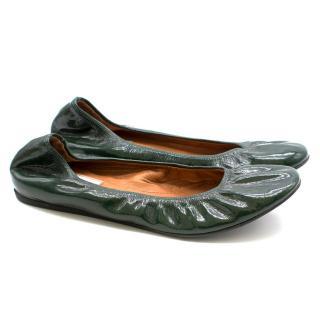 Lanvin Patent Classic Ballerina Flats