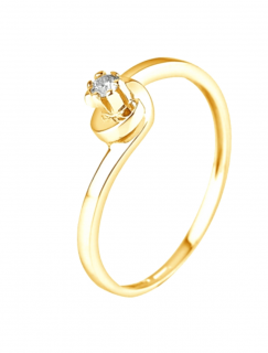& You Vendome Diamond Ring in 18kt Yellow Gold