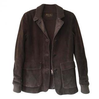 Loro Piana Brown Suede Jacket