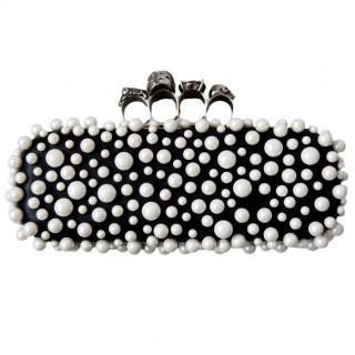 Alexander Mcqueen pearl knuckle clutch