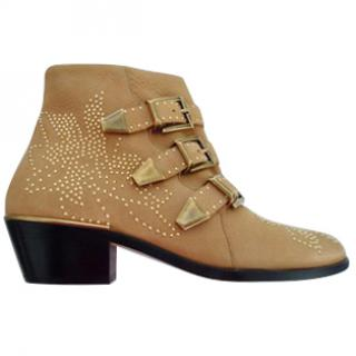 Chloe Susanna beige suede ankle boots