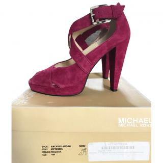 Michael Kors Kincade Platform Buckle Strapped Sandal