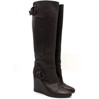 Balenciaga Knee-High Wedge Boots
