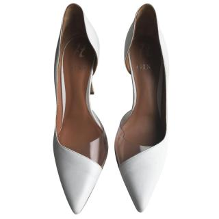 Gina white and perspex pumps
