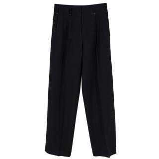 Fendi Wide Leg Wool Trousers