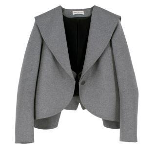 Balenciaga Cropped Grey Blazer