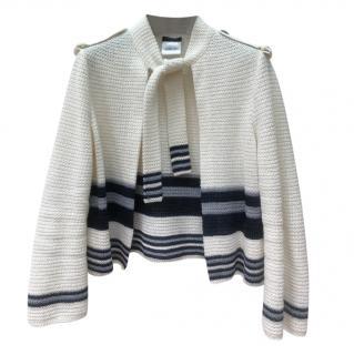 Chanel Striped Knit Cardigan