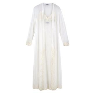 Janet Reger Lace Trim Slip with Matching Robe
