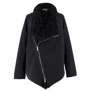 Givenchy Fur Lined Aviator Jacket