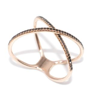 Bespoke 14K Rose Gold Black Diamond Ring